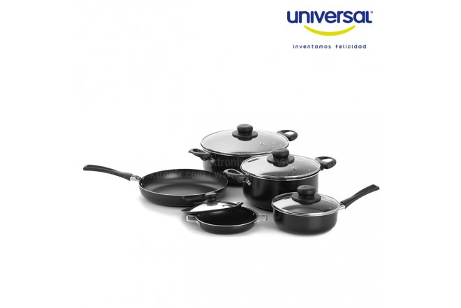 KOMBO UNIVERSAL: Bateria 9 piezas + Exprimidor 836