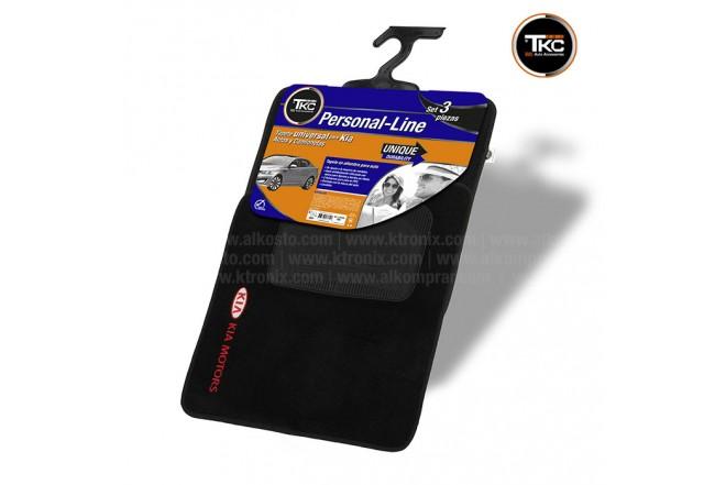 Tapete Universal Kia Motors Alfombra Negra 3 Piezas