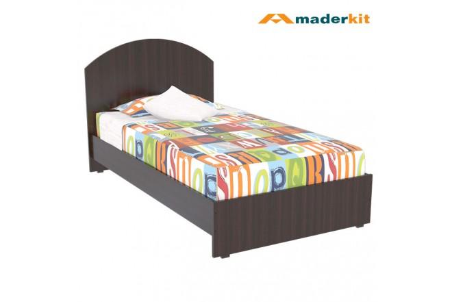 Cama sencilla maderkit wengue 01199 ca w r for Cama sencilla