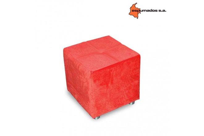 Puff ESPUMADOS Coralina Chanel Rojo