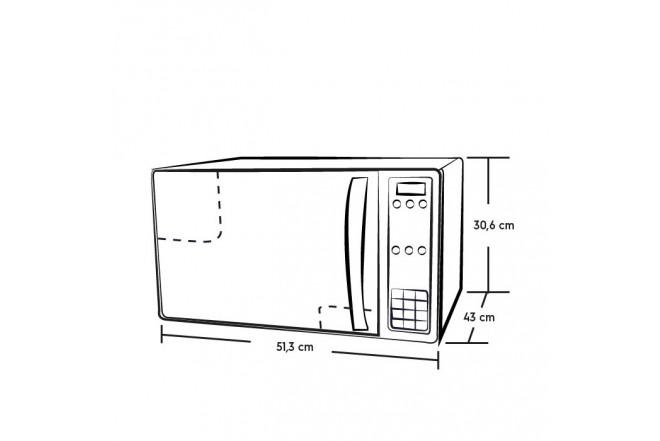 Horno Microondas ELECTROLUX 1.0 PC EMDN28