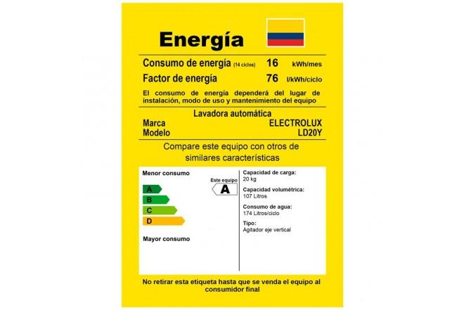 Lavadora ELECTROLUX 20Kg 21151YQA10 Blanco