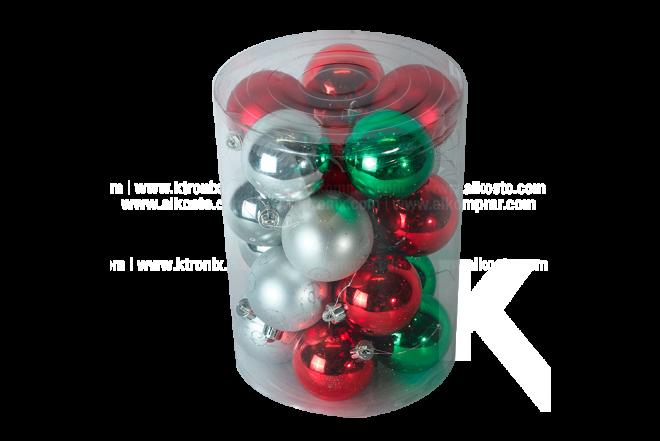 Set x 20 Esferas 6 cm Surtidos
