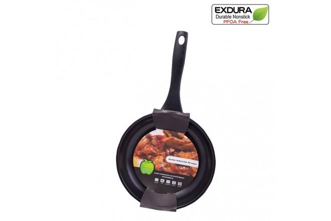Sartén EXDURA 24 cm Negro COL185 Apto para estufas de inducción