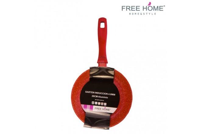 Sartén Inducción- FREE HOME- 20 cm Rojo