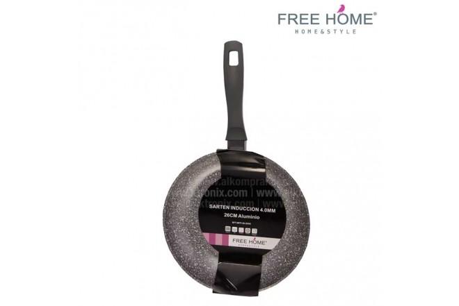 Sartén Inducción - FREE HOME 26Cm Gris BFT-MFP