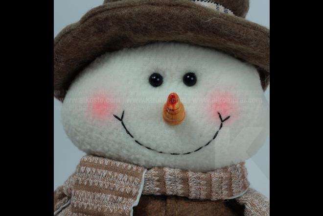 Decoración Navideña Hombre De Nieve Sentado 55 cm