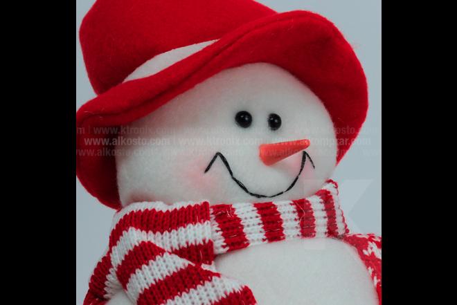 Decoración Navideña Hombre De Nieve Sentado Piernas Largas 37 cm