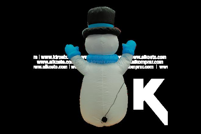 Muñeco Inflable Hombre Nieve Sentado Con Pala 120 cm
