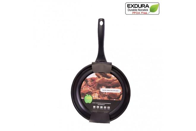 Sartén EXDURA 26 cm Negro Apto para estufas de inducción