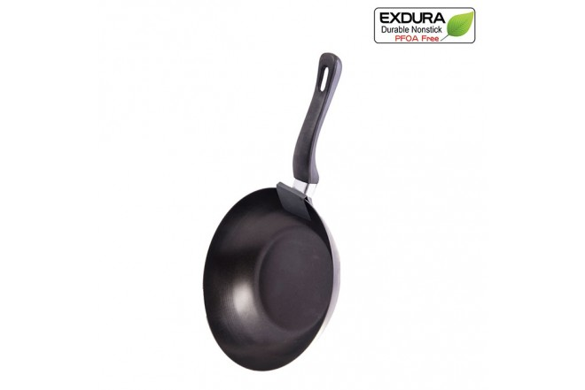 Sárten Wok EXDURA 25 cms Negro