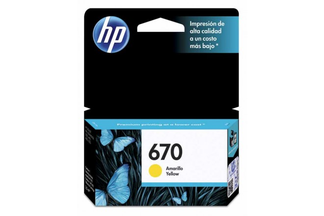 Cartucho HP 670 Amarillo Ink