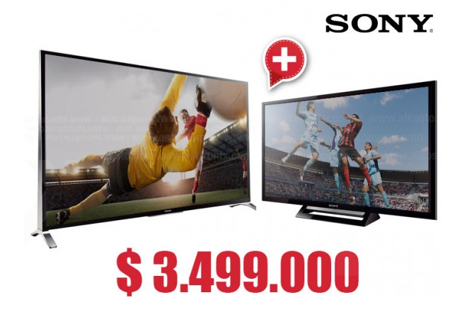 "Compra Tv 55' 138.8 cm LED SONY 55W957B Full HD  y  lleva gratis Tv 32"" 80 cm LED SONY 32R427B HD"