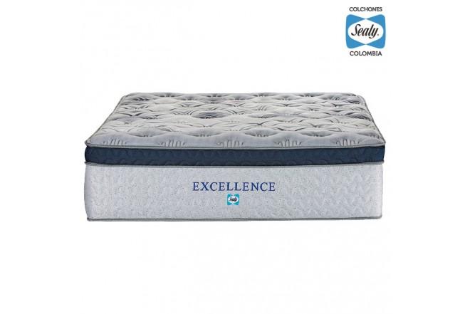 Colchón Extradoble SEALY Excellence Plush 160x190x38 cm