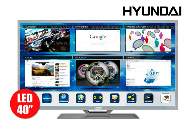 """TV 40"""" (101,6 cm) LED HYUNDAI HYLED401iNT HD internet"""