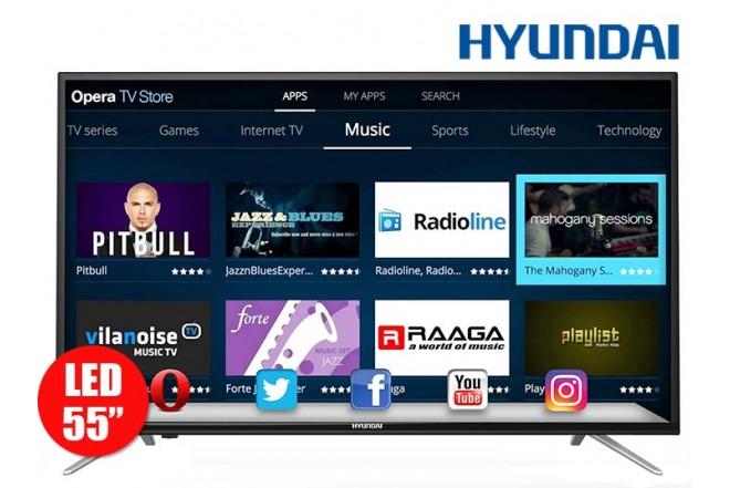 """Tv 55"""" 140cm Hyundai HY LED FullHD Internet T2"""