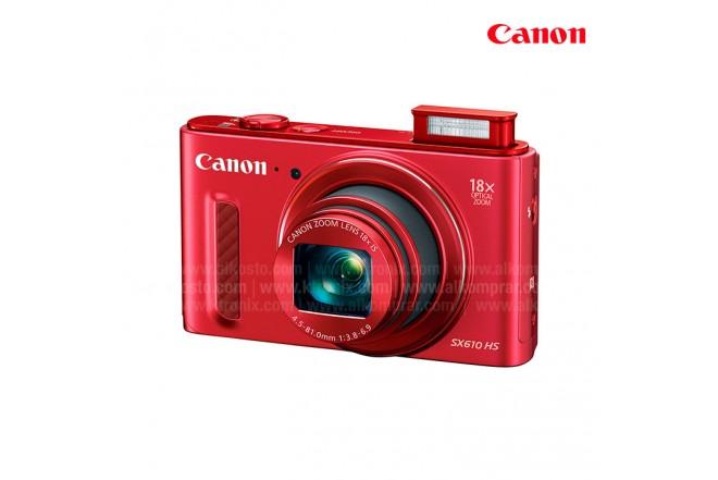 Cámara CANON Semiprofesional SX610 Roja