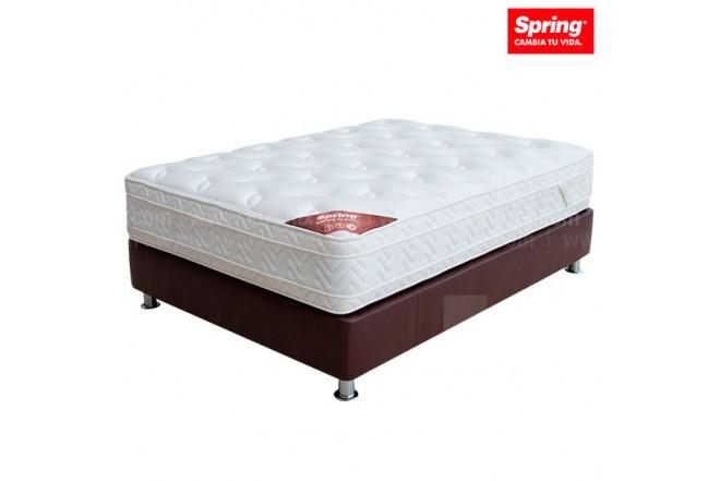 KOMBO SPRING: Colchón Life New C7 160 + Base cama Extradoble