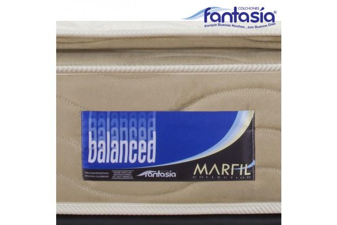 Colchón FANTASÍA Sencillo Marfil Balanced 100x190 cms