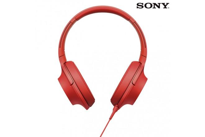 Audífonos SONY H-Res100 Alámbrico OnEar Rojo