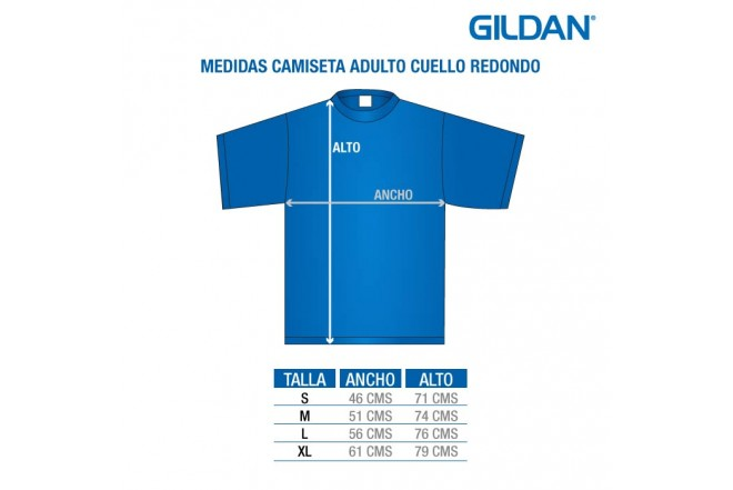 Medidas Camiseta Adulto GILDAN