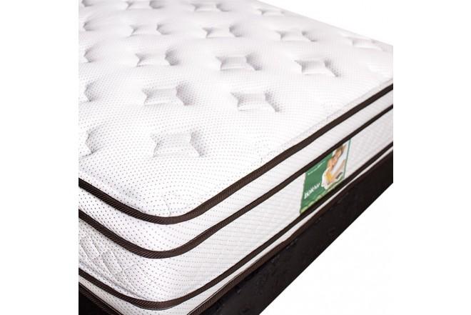 KOMBO: Colchón de resortes DORMILUNA Mercurio Top Sencillo +  Base cama Sencilla