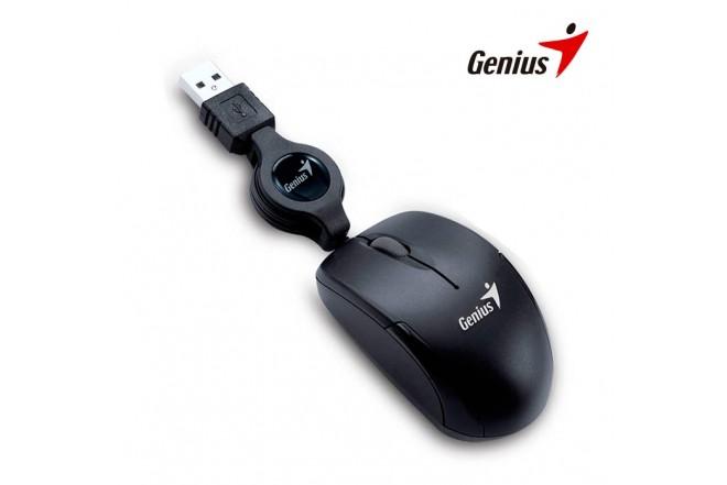 Mouse GENIUS Óptico Alámbrico USB Negro