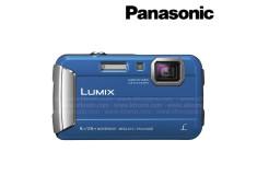 Cámara PANASONIC TS30 Sumergible Azul  Memoria SD + Estuche
