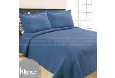 Cubrecama K-LINE Doble Lavare Azul Algodón 100%
