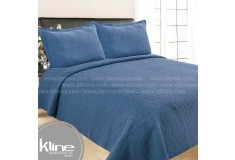 Cubrecama K-LINE Sencillo Lavare Azul Algodón 100%