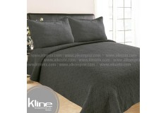 Cubrecama K-LINE Sencillo Lavare Gris Algodón 100%