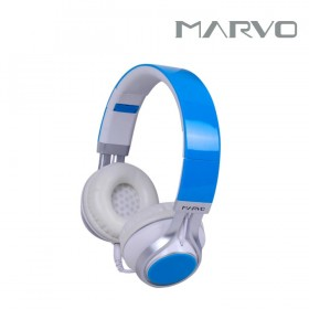 Diadema MARVO On Ear Alámbrica Stereo Azul