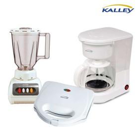 Kombo KALLEY Licuadora LPP40S + Sanduchera SM101 + Cafetera CM100K