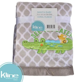Manta Baby K-LINE Cocodrilo Sherpa 76x102 cms 300 grms