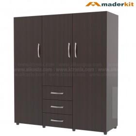 Armario Familar MADERKIT 3 Puertas 3 Cajones 00842-CL-W-R