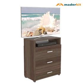 Comoda para TV MADERKIT 3 Cajones ROBLE 01098-CO-A-R
