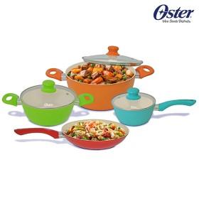 Juego de Ollas OSTER 7 Piezas Multicolor OS-21400