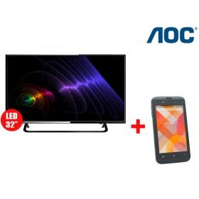 """Combo Tv 32"""" 80cm LED HD AOC + Celular E41"""