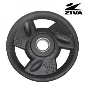 Disco encauchetado 10kg ZIVA Negro