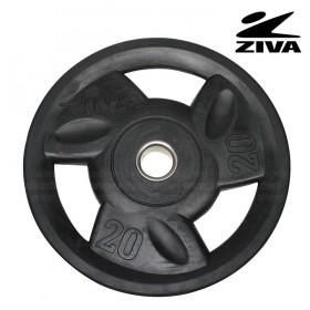 Disco encauchetado 20 kg ZIVA Negro