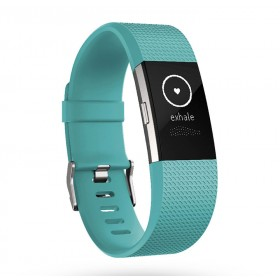 FITBIT Charge 2 Teal-Silver S