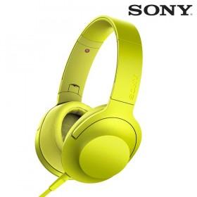 Audífonos SONY de diadema MDR-100AAP Amarillos con audio de alta resolución