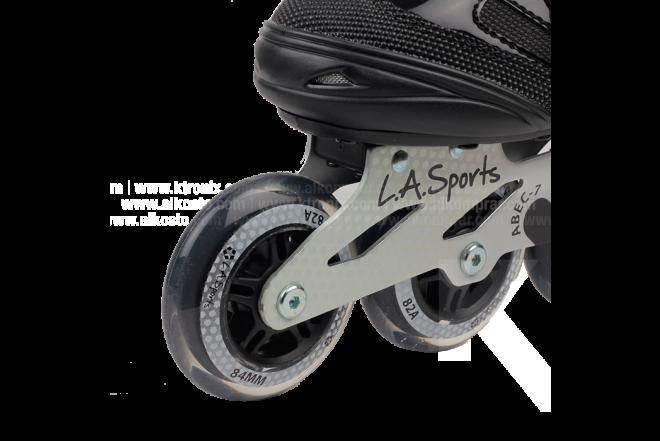 Patines En Línea Para Niño L.A. Sports Black
