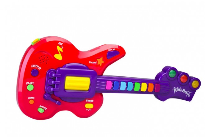 Guitarra aprende y rockea Keenway Kidz Beats Rojo
