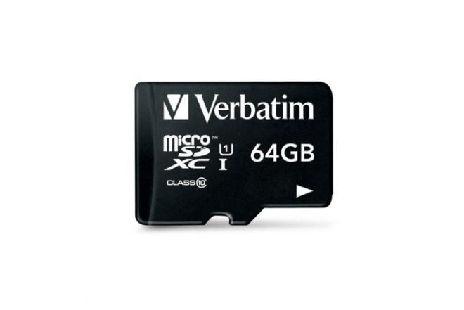 Memoria Micro SD VERBATIM Class 10 64 GB