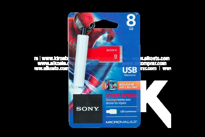Memoria USB SONY 8GB Spiderman 2.0 Rojo