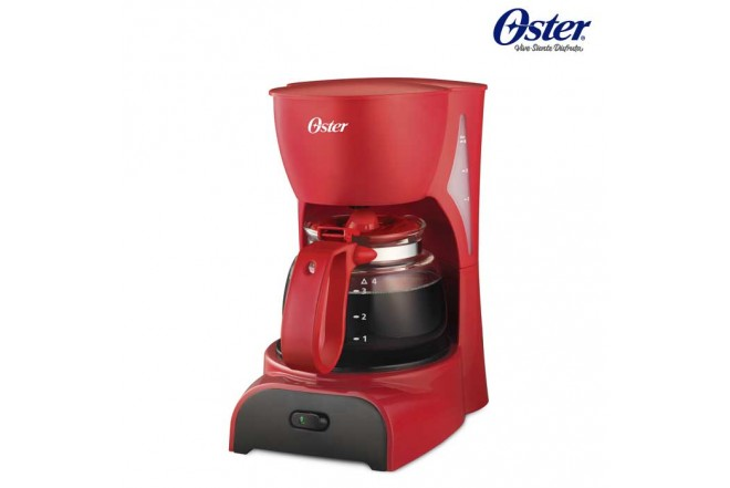 Cafetera OSTER 4 Tazas DR5R Roja