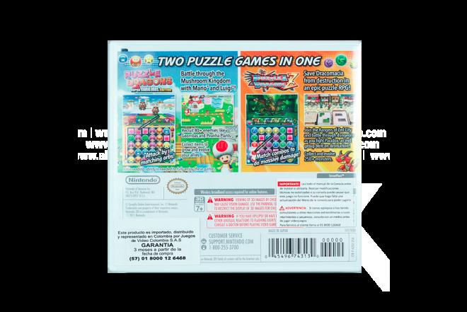 Video Juego NINTENDO 3DS Puzzle & Dragons Z & Super Mario Bros Edition