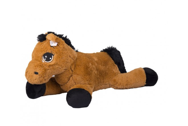 Caballo de peluche 80 cm Best Made Toys Marrón