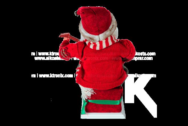 Santa Cantando Micrófono-Movimiento